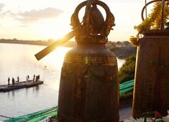Ubon Ratchathani - Thailand (jcbkk1956) Tags: sunset bells temple buddhist buddhism thai ubonratchathani fuji x100 river munriver thailand dusk contrejoure contrejour hammer worldtrekker