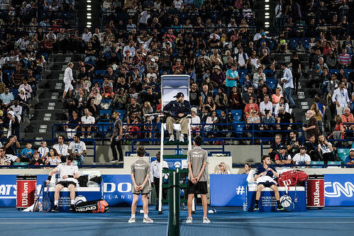 "The Umpire calls ""Time"" during the Andy Murray vs David Goffman match • <a style=""font-size:0.8em;"" href=""http://www.flickr.com/photos/125636673@N08/31873208901/"" target=""_blank"">View on Flickr</a>"