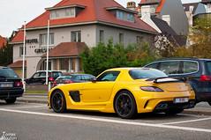 Black Series (TomasMouton) Tags: black car yellow mercedes coast belgium grandprix mercedesbenz series tomas sis gt supercar mouton gp gour knokkeheist zoute tomasmouton