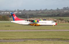 OY-RUG (aitch tee) Tags: aircraft aerlingus atr72 cardiffairport paintscheme stobartair oyrug