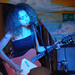 Delilah of Skinny Girl Diet, with pink Danelectro guitar.