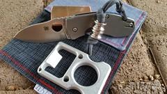 EDC 1072014 (grandprixmentality) Tags: aluminum bottleopener knucks spydercotechno copperzippo scoopyloops hanksbyhank bottlebruiser