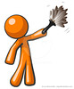 Orange Man Holding Feather Duster, Cleaner or Butler (clipartillustration) Tags: people house home work person holding soft hand adult interior working young feather cleaning clean housework domestic maintenance duster butler fancy service worker dust cleaner household sweep hygiene tool chores services employee housekeeping sanitation servant sweeping housekeeper occupation chore featherduster housecleaning worman