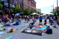 """Many chalk artists drawing on the street • <a style=""""font-size:0.8em;"""" href=""""http://www.flickr.com/photos/34843984@N07/15358843210/"""" target=""""_blank"""">View on Flickr</a>"""