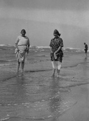 Two Ladies Paddling 1920's (Bury Gardener) Tags: uk 1920s england blackandwhite bw vintage oldies