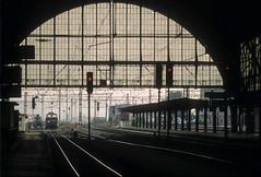 Praha hlavní nádraží (grapfapan) Tags: station architecture analog prague tracks railway prag slide praha olympusom2 fujisensi100