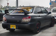 5380361 (rOOmUSh) Tags: auto black car vinyl subaru impreza matte avtonomer