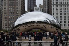 Cloud Gate (The bean) (Lorena Palma) Tags: city trip viaje autumn usa chicago cold architecture photography arquitectura nikon ciudad bean otoo fotografia cloudgate thebean frio elfrijol