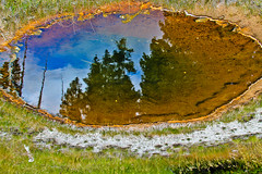 Pool in the Lower Geyser Basin (spurekar) Tags: park grand national yellowstone tetons
