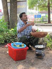 Burmese food (Lode Engelen - ) Tags: thailand kanchanaburi burmeseborder myanmarthailand chedisaamong treestupas
