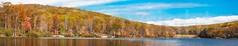 Lake Skannatati, Harriman State Park, New York (jag9889) Tags: park autumn panorama usa lake ny newyork fall colors landscape nationalpark unitedstates unitedstatesofamerica foliage kayaking pip orangecounty paddling kayaker 2014 southfields harrimanstatepark publicpark palisadeinterstatepark lakeskannatati jag9889 20141025