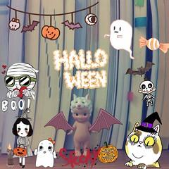 Free Halloween stamp!!Download : Photo Up #Halloween #Photoupapp | แต่งรูปด้วยแสตมป์น่ารักๆ จากโฟโต้อัพ รวมของฟรี!! โหลดมาเล่นกันได้แล้วจ้า
