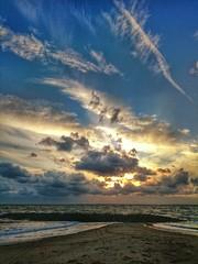 Z2 Sunset (Howie Mudge LRPS BPE1*) Tags: uk sea sky sun beach nature mobile wales clouds landscape photography sand scenery rocks phone sony snapshot cymru scenic coastal z2 gwynedd tywyn fantasticnature d6503