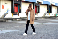 2-long-winter-coat-white-clean-sneakers-inspiration (www.shoutouttoyou.com) Tags: blue winter white inspiration black look smart gold michael sweater outfit long pants buttons coat watch cream smith tommy sneakers clean originals stan jeans simplicity trousers kicks adidas plain basic combination layered kors