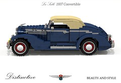LaSalle 1937 Convertible Coupe (lego911) Tags: auto old school usa classic car america vintage la 1930s model gm lego general render convertible cadillac motors lasalle 31 coupe challenge salle cad lugnuts 1937 povray 84 moc ldd miniland kickinitoldschool lego911 lugnutsturns7or49indogyears