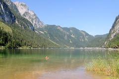 Bad im Vorderen Gosausee 933 m (Norbert H. Auer) Tags: bad bergsee obersterreich salzkammergut gosausee vorderergosausee badimbergsee