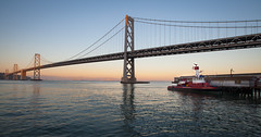 """Bay Bridge At Dusk • <a style=""""font-size:0.8em;"""" href=""""http://www.flickr.com/photos/54083256@N04/15519468711/"""" target=""""_blank"""">View on Flickr</a>"""