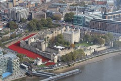 The Tower of London from the Shard. (konstantynowicz) Tags: thames poppy poppies toweroflondon theshard bloodsweptlandsandseasofred toweroflondonpoppies