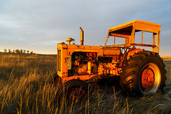 Montana Tractor Sunset (Ben Chase Photography) Tags: sunset tractor golden montana warm farm weathered rusting centralmontana