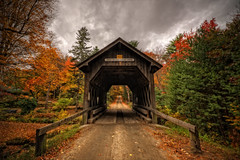 Swamp Meadow Covered Bridge (Frank C. Grace (Trig Photography)) Tags: ri bridge autumn fall nikon unitedstates newengland foliage foster rhodeisland coveredbridge andylake swampmeadow andrewlake