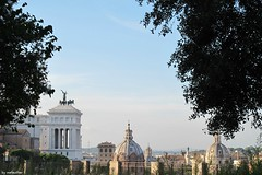 Uitzicht (mefeather) Tags: city trees sky italy rome art church architecture clouds bomen kunst wolken lucht kerk stad architectuur itali lazzio