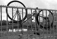 bike parking (wojofoto) Tags: blackandwhite bw amsterdam bike bicycle zwartwit streetphoto fiets noord zw straatfoto shelltoren wojofoto