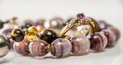 J is for jewellery (Explored) (Guineapig-crazy) Tags: necklace beads jewellery explore rings explored lumixg5