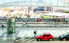 Toy station: Gare de Guillemins (SkyBlue Photography Pro) Tags: people color station architecture train belgium belgique belgie gare bahnhof liege luik guillemins travelpanorama
