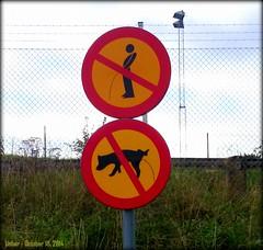 Unfair (Papa Razzi1) Tags: pee sign sweden stockholm forbidden leak unfair bromma 4177