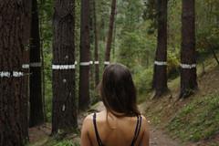 @Bosque de Oma (Mikel RM) Tags: girl de mujer woods line bosque oma bizkaia euskadi lnea bosquedeoma