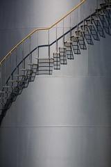 taking extraordinary steps (keith midson) Tags: street shadows steps rail silo launceston boland