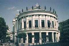 Antwerpen, Bourlaschouwburg (1995) (bart_) Tags: sigma schouwburg konica antwerpen bourla sietske sa300 sa300n bourlaschouwburg komedieplaats nederlandseschouwburg vlaamseschouwburg xg100