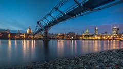 Millennium bridge- (Digital Kungfucat) Tags: city bridge sunset 3 london westminster night canon long mark iii exposer millennium nd 5d hdr