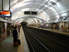 201407092 Roma subway station 'Termini' (taigatrommelchen) Tags: railroad urban italy roma station subway central perspective railway tunnel transit mass 20140731