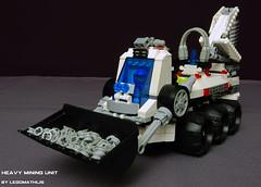 3_Heavy_Mining_Unit (LegoMathijs) Tags: lego space astronaut mining scifi shovel heavy drill containers miners unit legomathijs