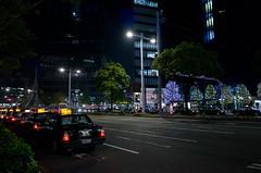 in front of Nagoya Terminal Station (kinpi3) Tags: street japan night nagoya gr ricoh meieki meiekidori