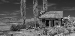 Abandoned  Ranch in Nevada (joeqc) Tags: ranch old blackandwhite white black mountains abandoned blancoynegro monochrome canon lost eos mono blackwhite decay nevada naturallight nv forgotten derelict decayed dilapidated t3i greytones rurex ruraltown oncewashome lonex