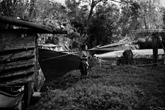 Golena San Prosdocimo, Padova (February29) Tags: bw girl river boat barca sony fiume 100mm rows manualfocus f28 a7 remi ragazza padova wideopen piovego golena kaleinar sanprosdocimo