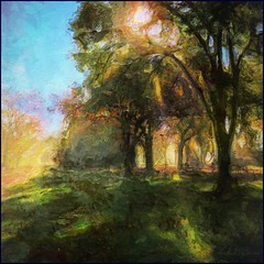 Big Bear Camp (flynryon) Tags: lake inspiration art texture mike mobile fog digital portraits landscapes flickr artist canvas kansas pomona northeast figures sunbeam ryon iphone scumble mashablecom fingerpaintedit flynryon iamda ipainter uploaded:by=flickrmobile flickriosapp:filter=nofilter paintbookca