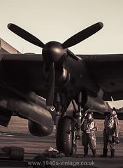 East Kirkby-5 (rishikesha) Tags: blackandwhite war jane aircraft wwii 1940 just 1940s acting planes lancaster ww2 warbirds reenactment reenactors retroclothing 1940sfashion 1940sevents 1940costumes