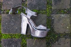 Silver Shoe (pni) Tags: shoe ground silver moss stone tile strw helsinki helsingfors finland suomi pekkanikrus skrubu pni clothing