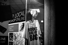 We are all gonna die in book you know? (wazza1008) Tags: life uk light england bw art skeleton death book blackwhite still raw body sheffield books clothes human 5d 5dmarkii 5d2 5dmark2