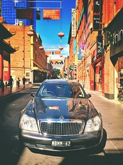 All that glitters. (lukemarkof) Tags: city blue light shadow black art classic dark fun exposure play view outdoor style australia melbourne funky special exotic german luxury depth interest supercar built challenging v12 maybach 2014 iphoneography