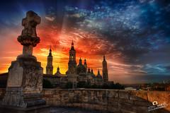 Atardecer Zaragoza - Adrian Sediles (Sediles) Tags: sunset landscape atardecer zaragoza zgz puentedepiedra basílicadelpilar sediles adriansediles blogadriansedileses fotosediles