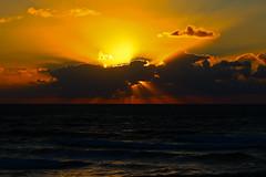 cloudy sunset - Tel-Aviv beach (Lior. L) Tags: light sunset sea sky reflection beach clouds canon reflections golden israel telaviv shadows seascapes horizon telephoto rays canondslr goldenhour telephotolens raysoflight canon70200f4l cloudysunset raysofsunshine goldenhours raysofgod horizonbeach canon600d canont3i canonkiss5 cloudysunsettelavivbeach