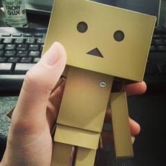 Danbo (pixachii) Tags: square squareformat unknown danbo revoltech cardbo iphoneography instagramapp uploaded:by=instagram