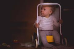 Sitting in the walker