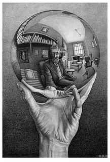 Escher - Mano con sfera riflettente