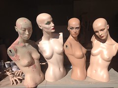 Today's Task: Sanding & Bondo (DollAddict) Tags: mannequin mannequins sandy tracy sile rootstein