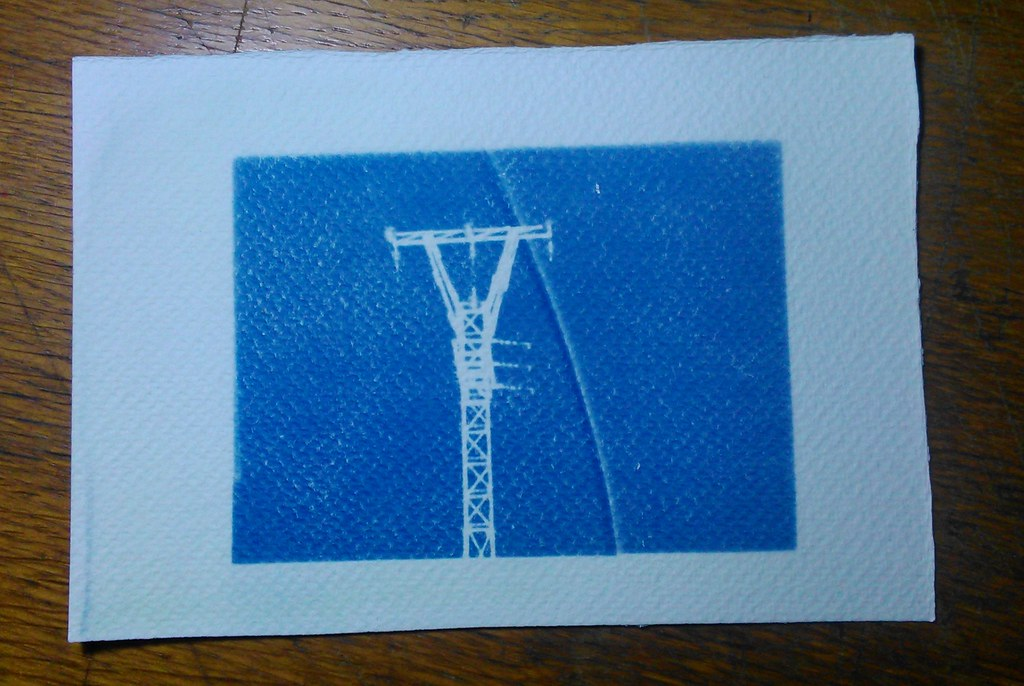 The worlds best photos of cianotipo flickr hive mind cyanotypes power tower motagirl2 tags analog diy experimental blueprint analogue malvernweather Image collections